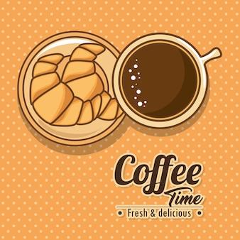 Deliciosos elementos de tiempo de café