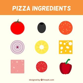 Deliciosos ingredientes para pizza