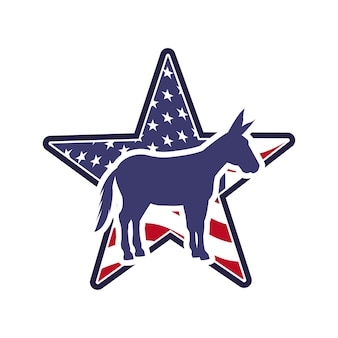 Demócrata partido político animal