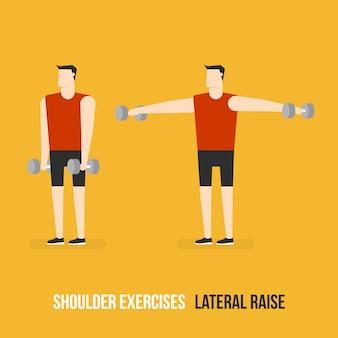 Demostración de levantamiento lateral de hombros
