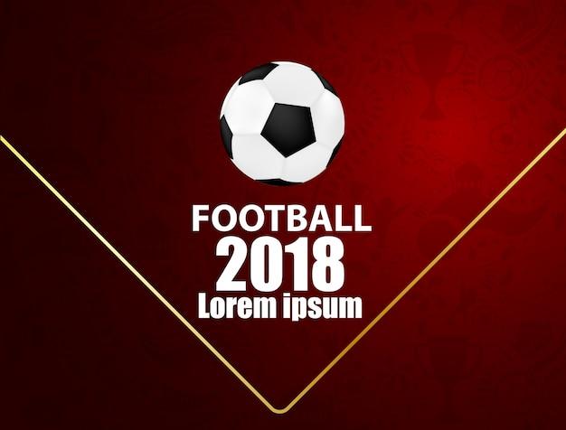 Deporte diseño concepto fútbol 2018 patrón