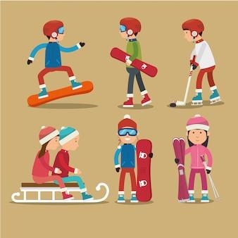 Deporte de invierno y ropa de moda.