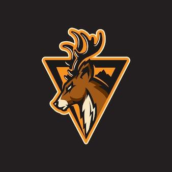 Deporte logo de ciervo