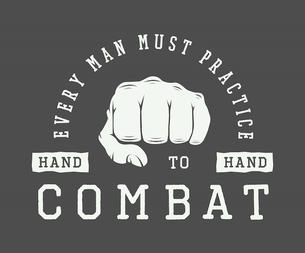 Deporte vintage de artes marciales