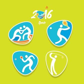 Deportes de los juegos olímpicos en estilo abstracto