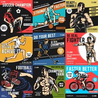 Deportes, redes sociales, publicaciones.
