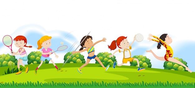 Deportistas deportistas en la naturaleza