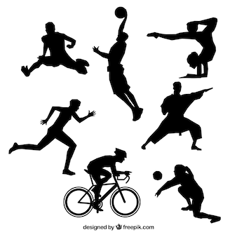 Deportivo olímpico vector