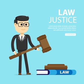 Derecho, abogado, empresa. concepto de justicia y derecho.
