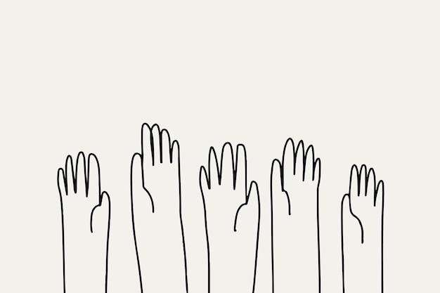 Derechos humanos doodle vector estilo dibujado a mano