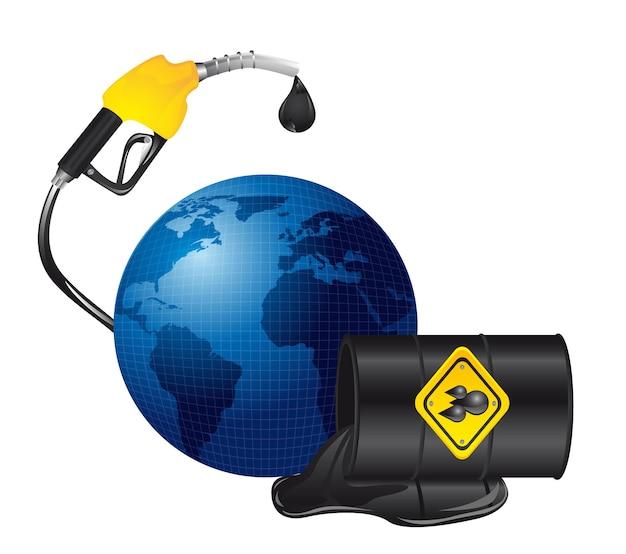 Derrame de petróleo sobre el planeta aislado