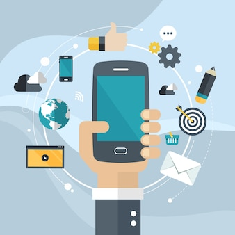 Desarrollo de aplicaciones o programación de aplicaciones para smartphone.