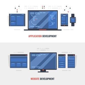 Desarrollo de banner de concepto de sitio web adaptativo