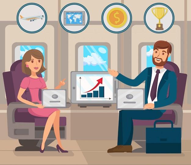 Desarrollo de negocios internacionales. vector plano