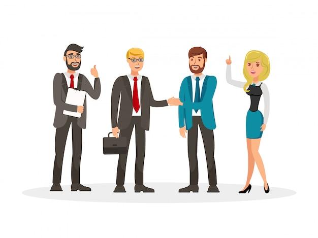 Desarrollo de negocios reunión ilustración vectorial