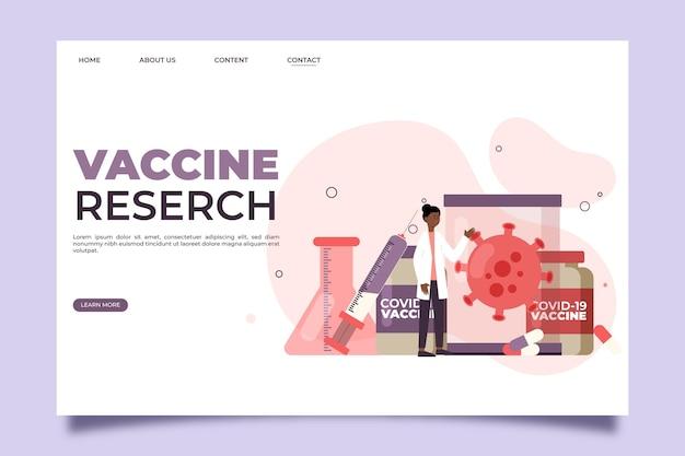 Desarrollo de la página de inicio del tratamiento con coronavirus.