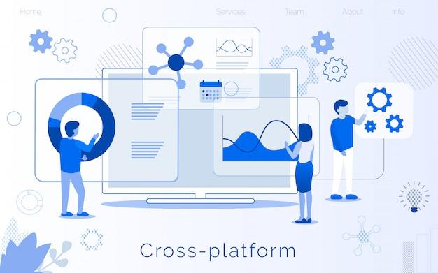 Desarrollo de plataforma cruzada creación página de aterrizaje