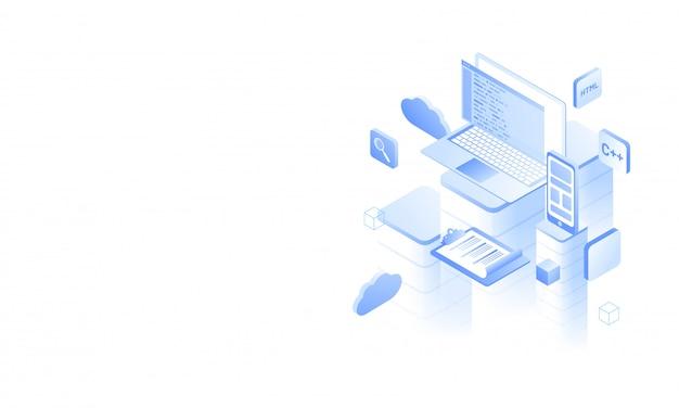Desarrollo de software o concepto de programación.