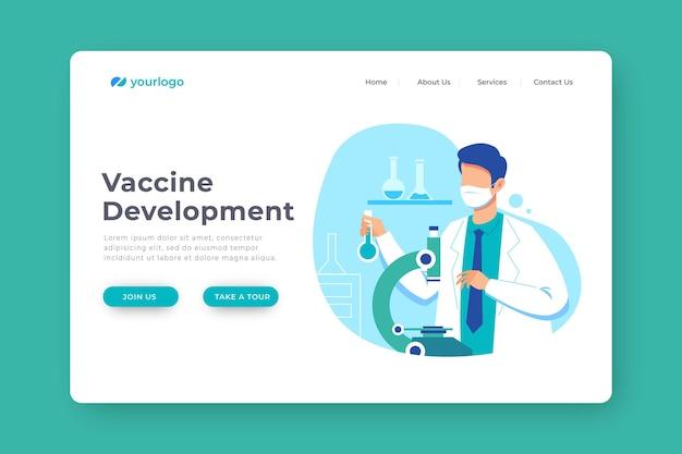 Desarrollo de vacunas hombre con máscara médica
