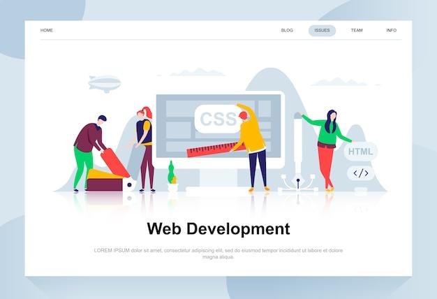 Desarrollo web moderno concepto de diseño plano.