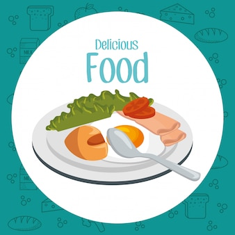 Desayuno comida deliciosa