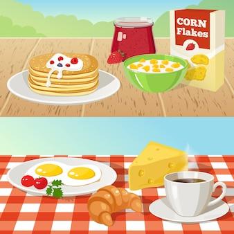 Desayuno conceptos al aire libre