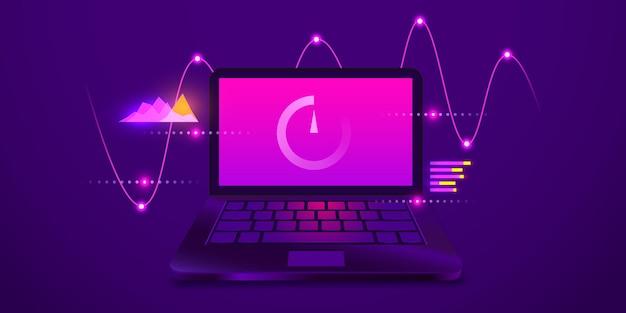Descarga y carga en línea prueba de velocidad velocidad de carga del sitio web plantilla web verificación de velocidad de internet