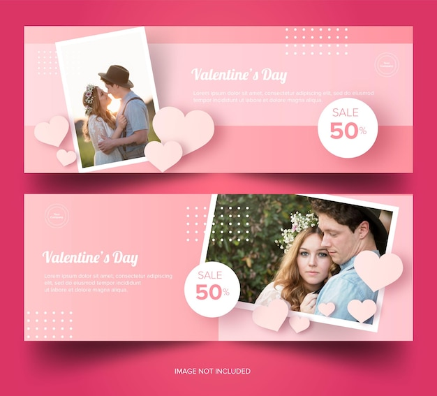 Descarga gratuita de banner pink valentines premium