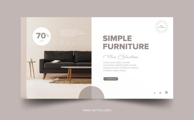 Descarga gratuita de simple banner sofa premium