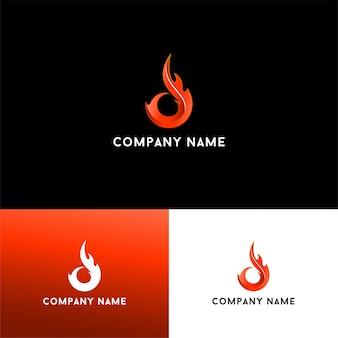 Descarga de vector de logotipo 3d letra d