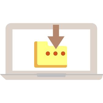 Descargar icono de archivo de documento símbolo de vector de carpeta