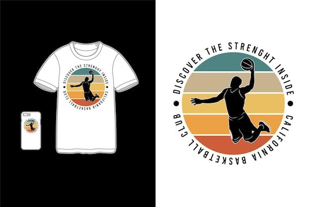 Descubre la fuerza interior, maqueta de mercancía de maqueta de camiseta