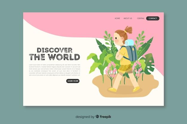 Descubre la página de aterrizaje de aventura mundial