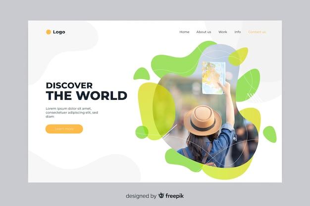 Descubre la página de aterrizaje de viajes mundiales
