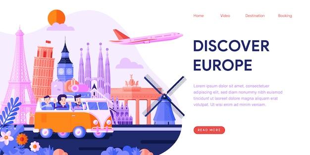 Descubre la página de destino de europa