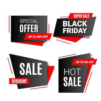 Descuento de banner de venta de viernes negro con texto aislado en blanco. ilustración