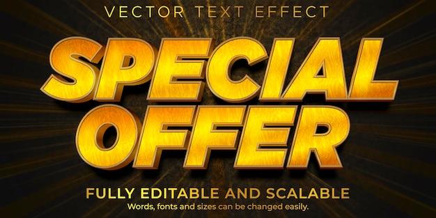 Descuento editable de efecto de texto de venta flash y estilo de texto de oferta