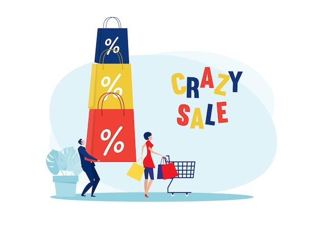 Descuento de venta de tienda loca de mujer el viernes negro