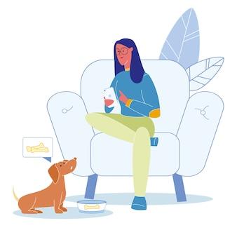 Descuido de mascotas, ilustración de comportamiento irresponsable