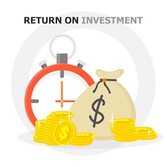Desempeño financiero, informe estadístico, aumento de la productividad empresarial, fondo mutuo, retorno de la inversión, consolidación financiera, planificación presupuestaria, concepto de crecimiento de ingresos, icono plano vectorial