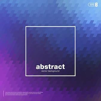 Desenfoque de fondo de mosaico de color azul y violeta. los elementos son formas cuadradas oblicuas.