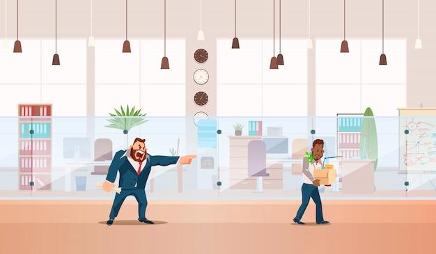 Desestimado, pérdida de empleo. ilustracion vectorial