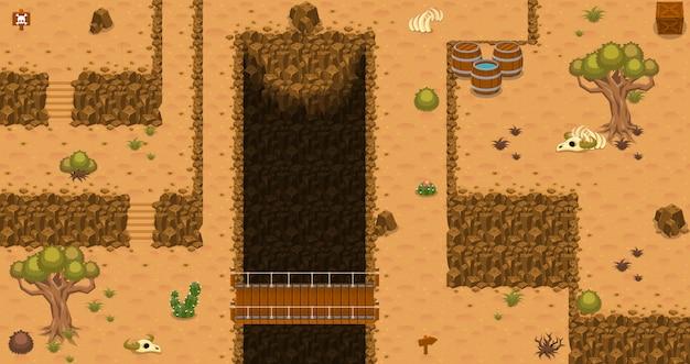 Desierto de arriba abajo tileset