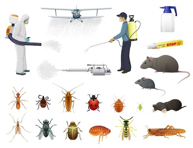 Desinfección, control de plagas, exterminio de insectos