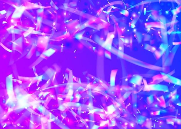 Deslumbramiento ligero. banner láser. efecto retro púrpura. desenfoque prismático t