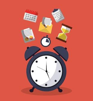 Despertador horario para servicio de mensajes y calendario