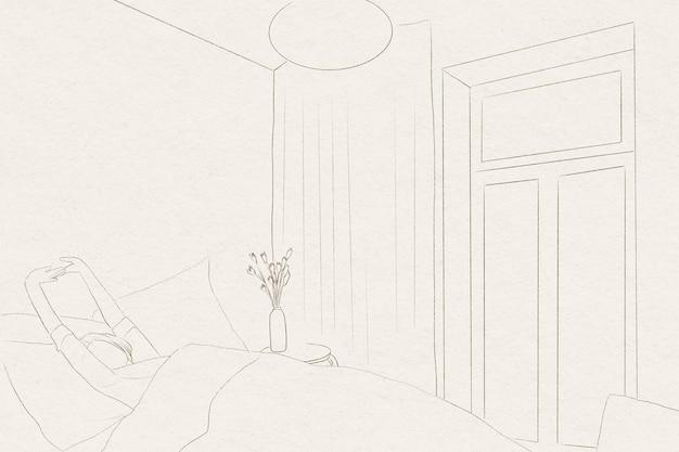 Despertar dibujo de línea simple de fondo