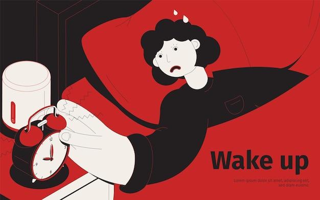 Despertar ilustración de alarma