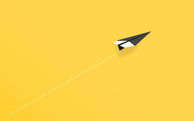 Destacando el avión de papel de forma individual