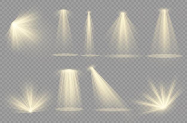 Destacar. efecto de luz efecto de luz transparente blanco aislado resplandor